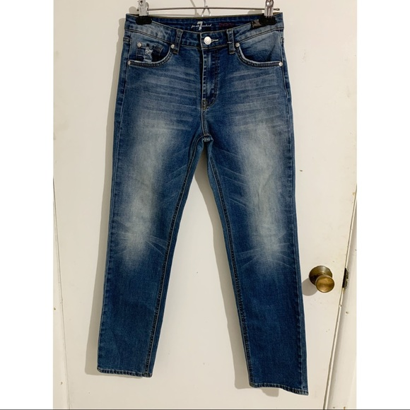 7 for all mankind slimmy distressed jeans Sz26